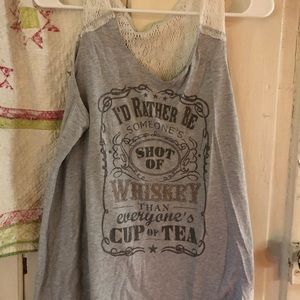 Shot of whiskey tank top xxl
